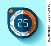 stopwatch icon in flat style ... | Shutterstock .eps vector #1116719660