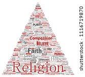 vector conceptual religion  god ... | Shutterstock .eps vector #1116719870