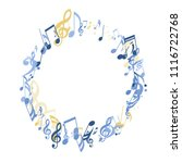 round frame of musical signs....   Shutterstock .eps vector #1116722768