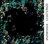 musical signs. abstract... | Shutterstock .eps vector #1116723620