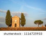 san quirico d'orcia  italy  ... | Shutterstock . vector #1116725933