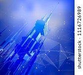 futuristic smart metropolis...   Shutterstock .eps vector #1116726989