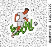 vector football soccer in...   Shutterstock .eps vector #1116731120