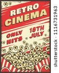 cinema vintage poster with... | Shutterstock .eps vector #1116731963