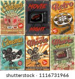 cinema set of posters. vector... | Shutterstock .eps vector #1116731966