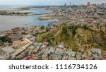 drone view from the slums in... | Shutterstock . vector #1116734126