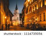 riga   5 may  2018  evening... | Shutterstock . vector #1116735056