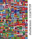 flags of all world countries on ...   Shutterstock . vector #111673739