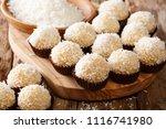 delicious brazilian beijinhos... | Shutterstock . vector #1116741980