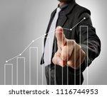 businessman with financial... | Shutterstock . vector #1116744953
