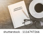 workplace harassment concept on ... | Shutterstock . vector #1116747266
