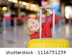 cute happy little boy with big... | Shutterstock . vector #1116751259