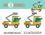find differences game. vector... | Shutterstock .eps vector #1116761024