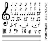music notes. vector musical... | Shutterstock .eps vector #1116766640