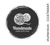 handmade line vintage logo.... | Shutterstock .eps vector #1116766664