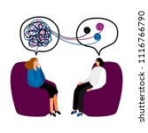 psychotherapy. woman... | Shutterstock .eps vector #1116766790