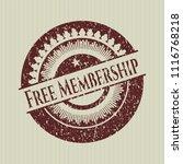 red free membership distress... | Shutterstock .eps vector #1116768218
