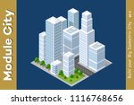 set of urban areas of modules | Shutterstock . vector #1116768656