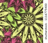 seamless floral background.... | Shutterstock .eps vector #1116775400