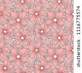 decorative floral seamless... | Shutterstock .eps vector #1116775574