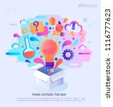 think outside the box  vector... | Shutterstock .eps vector #1116777623