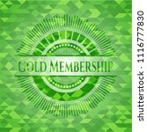 gold membership green emblem.... | Shutterstock .eps vector #1116777830
