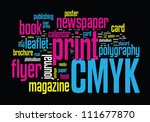printing word cloud vector... | Shutterstock .eps vector #111677870