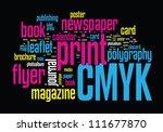 printing word cloud vector... | Shutterstock .eps vector #111677870