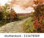 country road in colorful forest | Shutterstock . vector #111678569