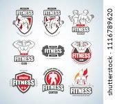 man woman fitness logo...   Shutterstock .eps vector #1116789620