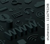 black 3d www background with... | Shutterstock .eps vector #1116792248