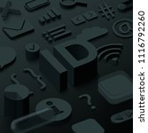 black 3d id background with web ...