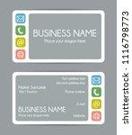rounded corner business card... | Shutterstock . vector #1116798773