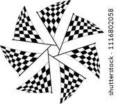 race flag various designs ... | Shutterstock .eps vector #1116802058