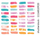 brush strokes set backgrounds.... | Shutterstock .eps vector #1116810920