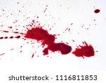 blood drops on the floor tiles. | Shutterstock . vector #1116811853