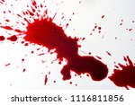 blood drops on the floor tiles. | Shutterstock . vector #1116811856