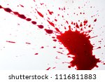 blood drops on the floor tiles. | Shutterstock . vector #1116811883