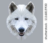 Wolf Low Poly Design. Triangle...