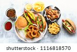 fast food. street and takeaway... | Shutterstock . vector #1116818570