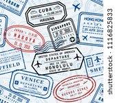 passport stamps vector... | Shutterstock .eps vector #1116825833