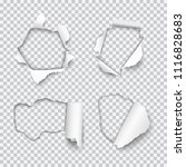 vector set of various holes... | Shutterstock .eps vector #1116828683