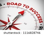 road to success   success on... | Shutterstock . vector #1116828746