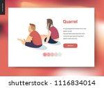quarrel vector concept...   Shutterstock .eps vector #1116834014