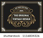 vintage design with floral... | Shutterstock .eps vector #1116834326