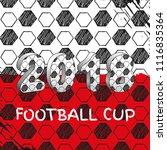 vector sport template. soccer... | Shutterstock .eps vector #1116835364