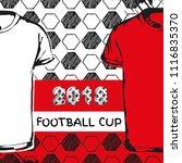 vector sport template. soccer... | Shutterstock .eps vector #1116835370