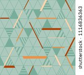 seamless geometric pattern with ... | Shutterstock .eps vector #1116836363