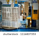 stretch wrapping for pallet... | Shutterstock . vector #1116837353