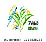 7 september. brazil... | Shutterstock .eps vector #1116838283